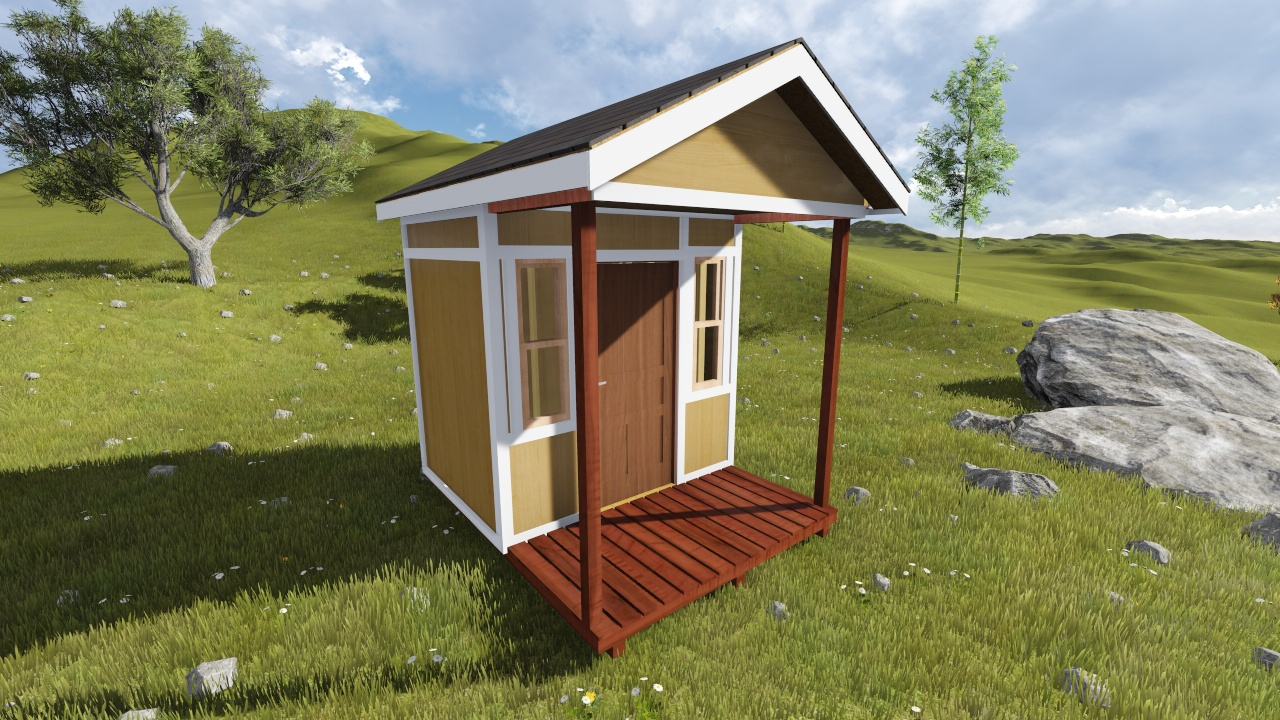 8x10 Tall Gable Shed Plan With Porch