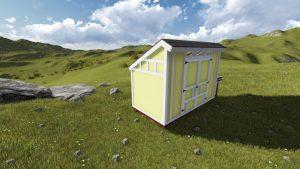 Saltbox 6x12 Shed Plan1