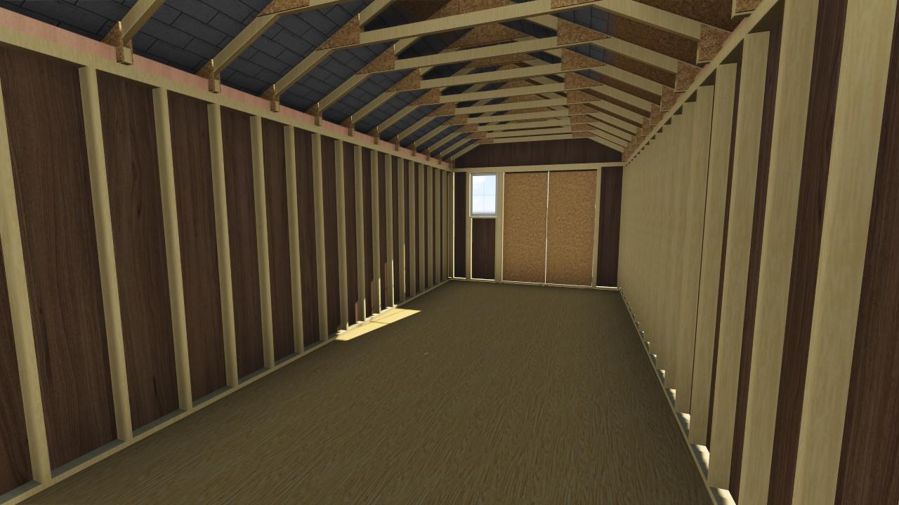 12x28 Gable Storage Shed Plan