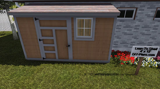 4x12 Lean To Shed Plan
