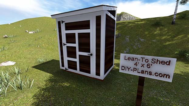 4x6 Lean To Shed Plan