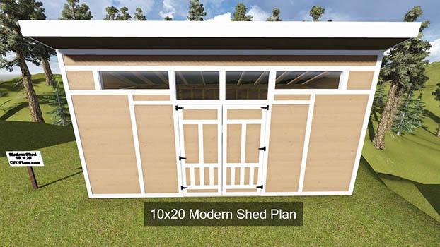 10x20 Modern Shed Plan