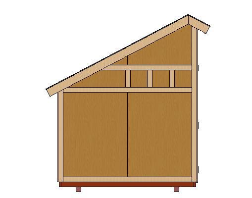 8x12 Saltbox Shed Plan